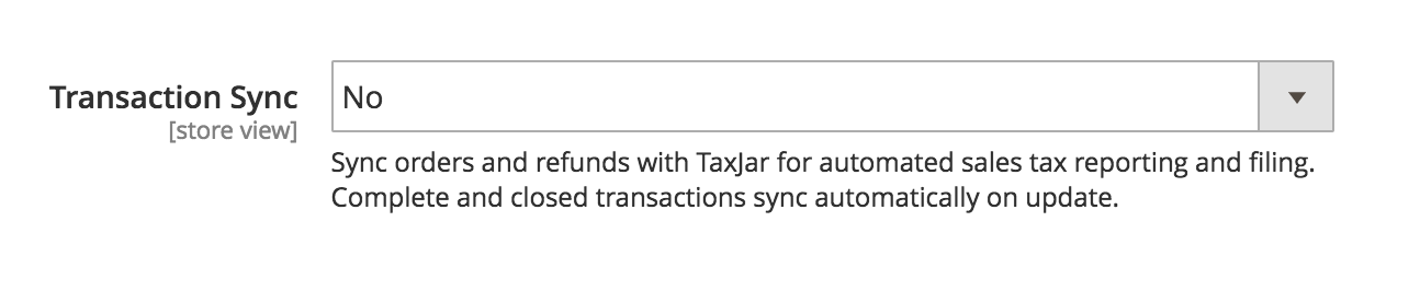 Magento 2 Transaction Sync Toggle